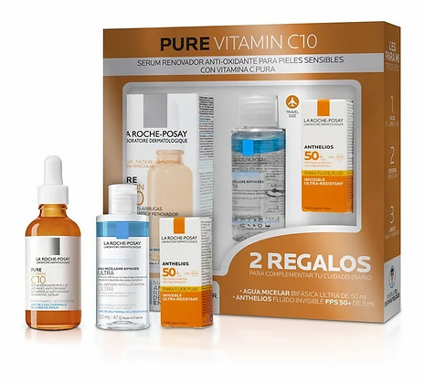 Kit Pure Vitamin C10 Serum 30ml + Mini Agua Micelar Bifasica
