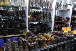 Fake rhino horn end products and horns for sale in a major market in China