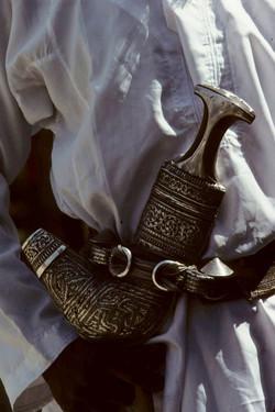 Rhino horn dagger handle