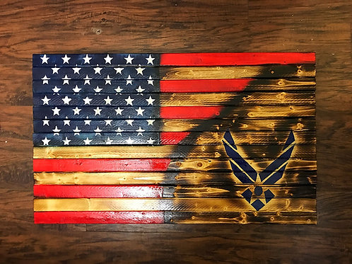 Military Service American Flags