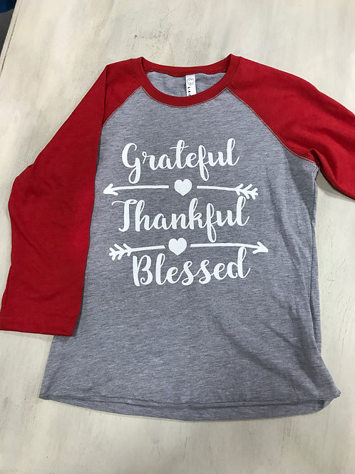 Thankful/Grateful/Blessed