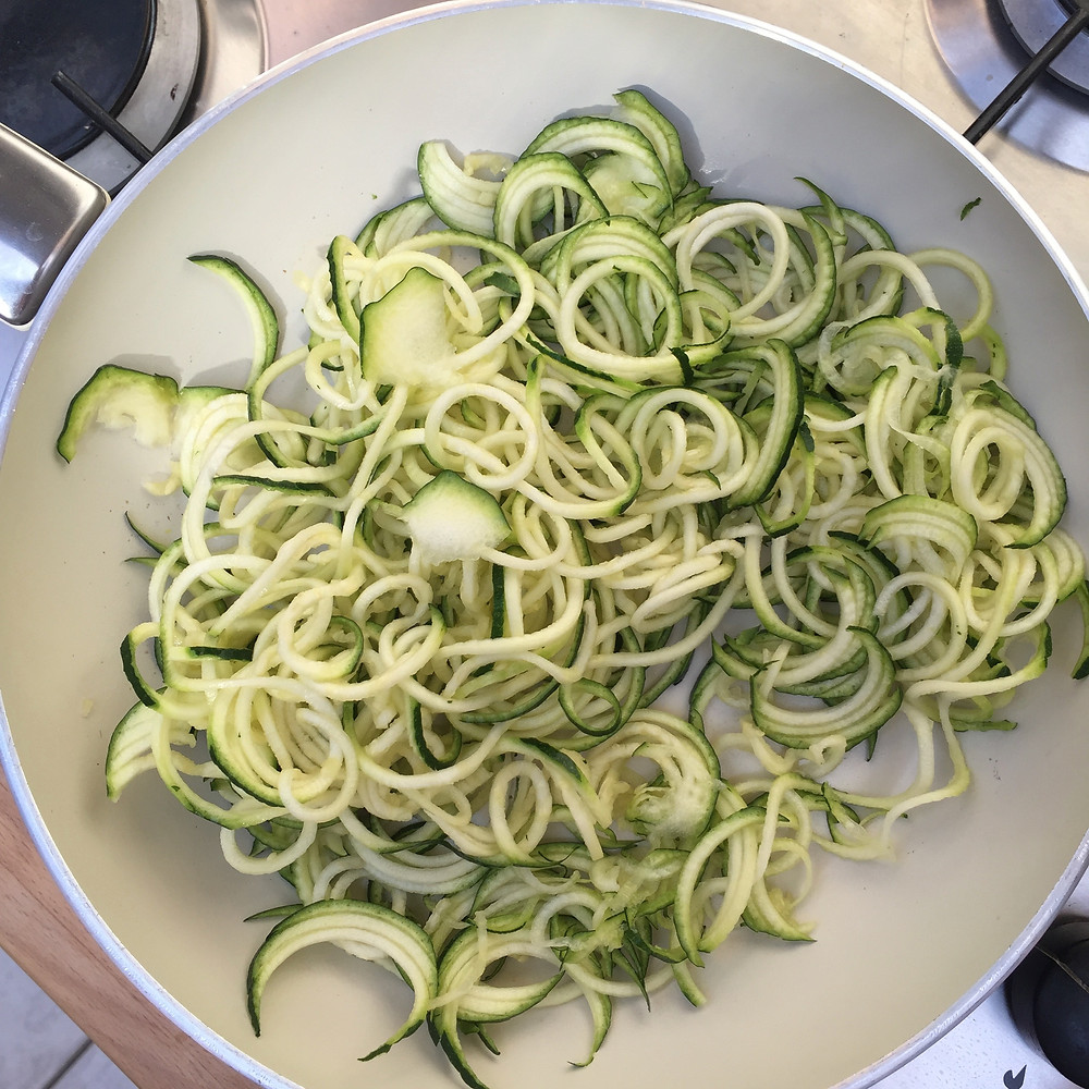 Courgetti Noodles, Zoodles, Gluten Free Past
