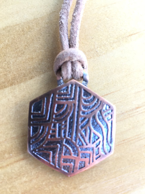 Octagon in Copper Necklace