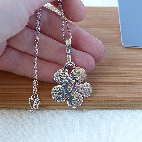 Peridot flower Necklace