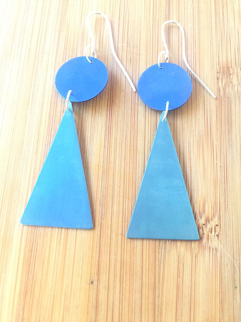 Geometric Titanium Statement Earrings