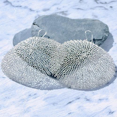 Fine Silver Statement Earrings