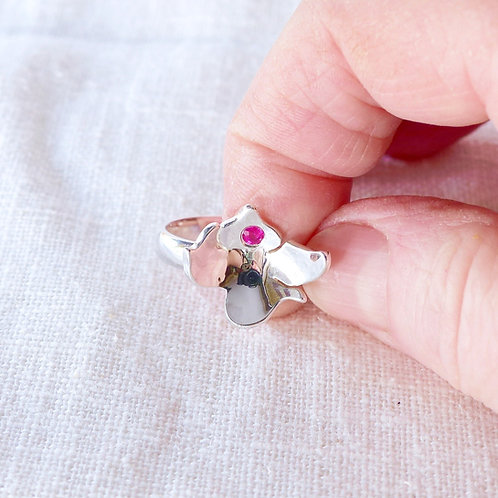 Ruby orchid ring