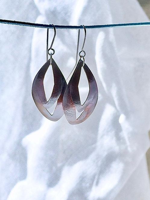 Floral copper Earrings