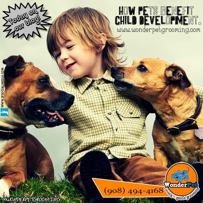 How pets benefit child development.
