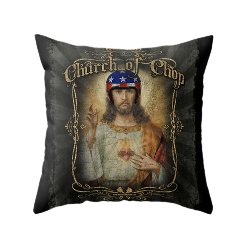 Hot Rod Jesus - Throw Pillow