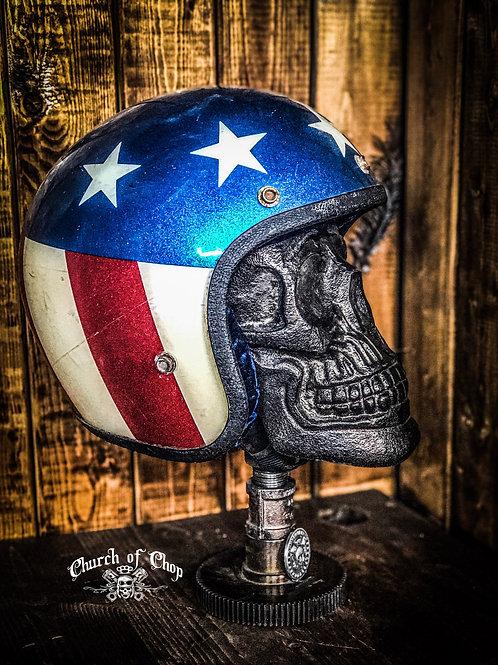 Custom Skull Helmet Stand