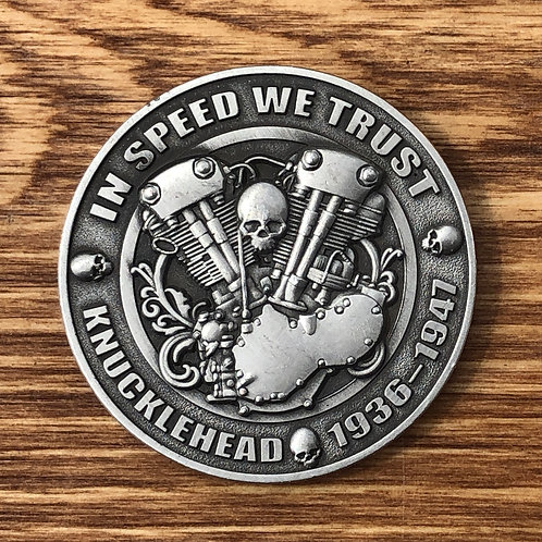 Knucklehead Collectors Coin, from the Church of Chop