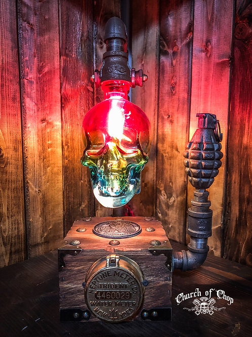 The Patriot - Industrial Steampunk Lamp