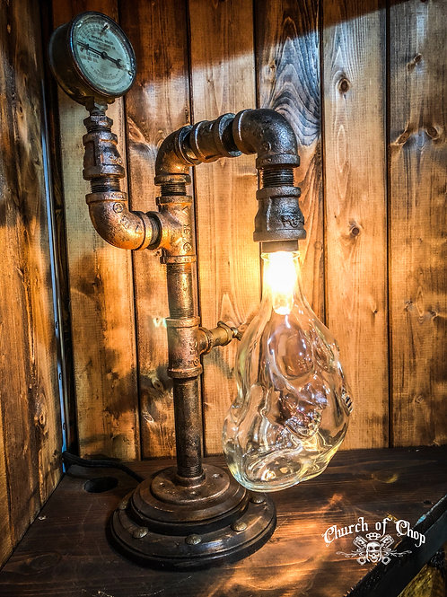 Damiana - industrial steampunk lamp