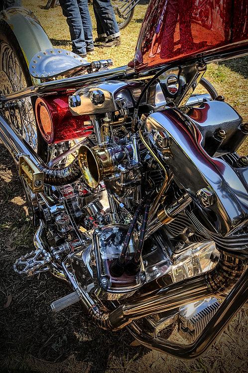 Psychedelic Shovelhead - Metal Art