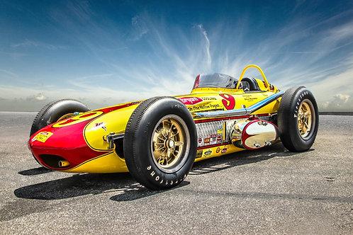 Vintage Indy Racer II - Canvas Art Print