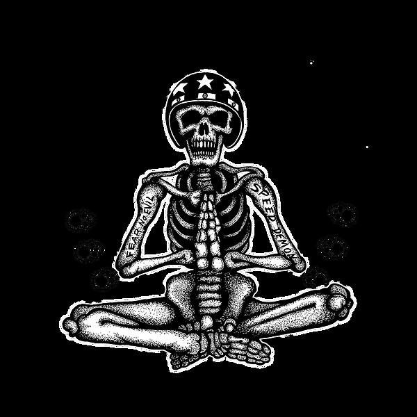 Church of Chop Praying Skeleton - logo
