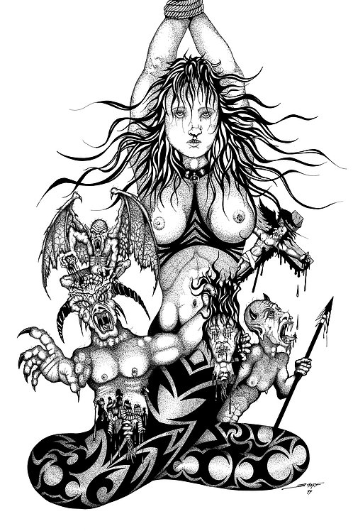 Hells Angel - Fine Art Print