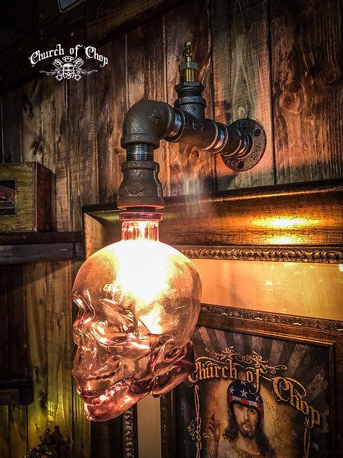 Crystal Skull Wall Sconce