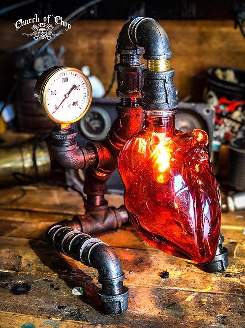 Sacred Heart  - Motorpunk Lamp