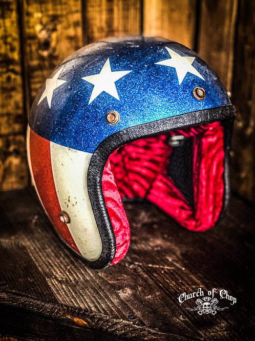 Genuine vintage 70's Hotrod Jesus - Easyrider/Captain America Helmet