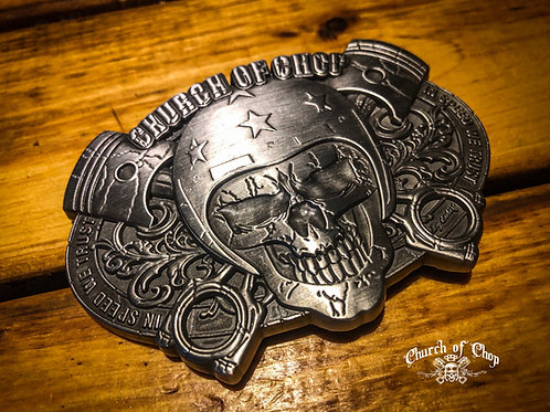 Church of Chop - 3D Belt Buckle