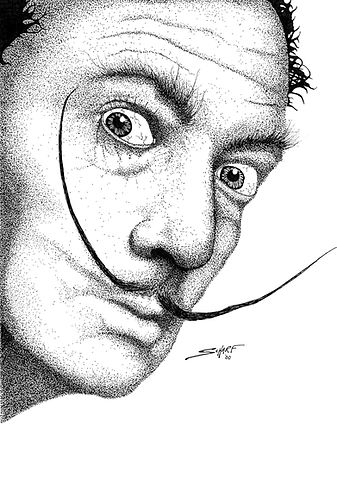 Salvador Dali -  pen and ink