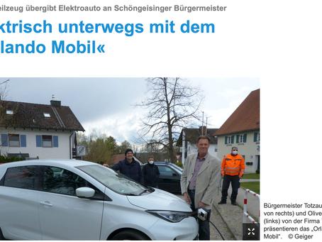 E-Carsharing startet in der Gemeinde Schöngeising im Landkreis Fürstenfeldbruck