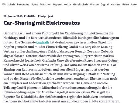 E-Carsharing in der Gemeinde Grafrath - Nägel mit Köpfen