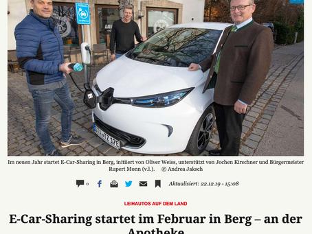 E-Carsharing startet im Februar in Berg