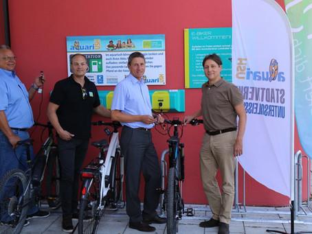 E-Bike Ladestation für das Freibad Aquariush, Stadt Unterschleißheim