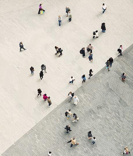 Leute-Gehen