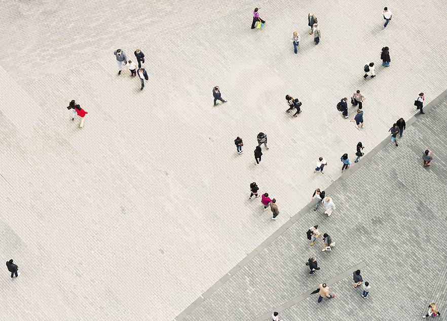 산책하는 사람들
