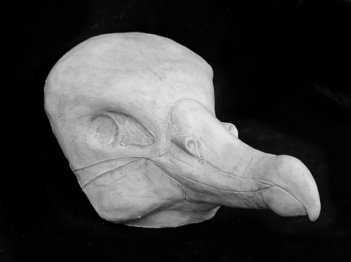 Realistic Albatross Fursuit Mask Resin Blank with Moving Jaw
