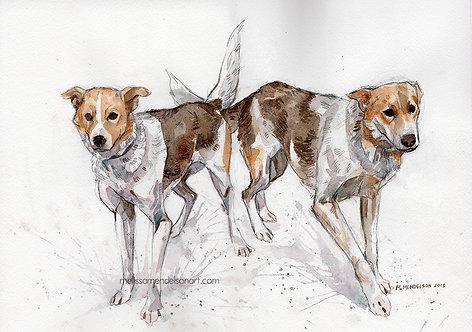 Bonnie and Clyde ORIGINAL watercolor