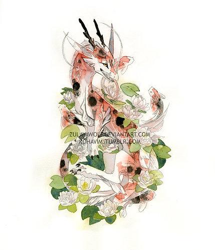 Koi Dragon print
