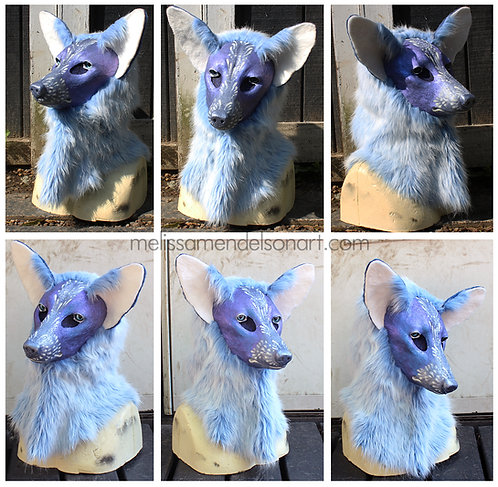 Blue/Purple shift Fox Fursuit Mask