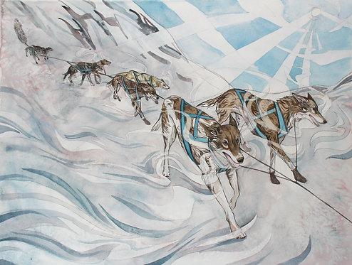Yukon Quest ORIGINAL watercolor