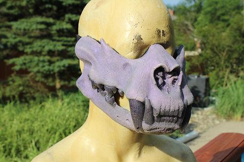 Feline Skull Half Mask - Frosted lavender