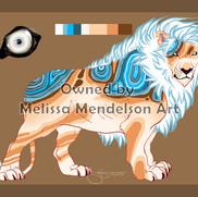 Blue Lace Agate Lion by padmabhujaga