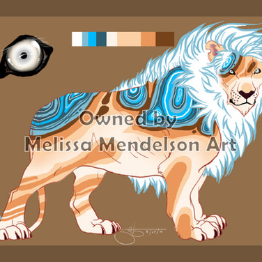 Blue Lace Agate Lion by padmabhujaga