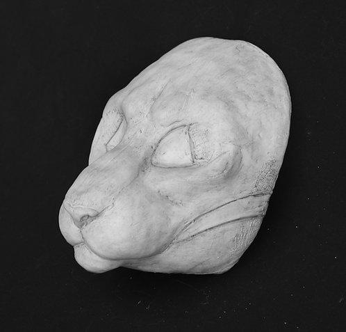 Realistic Medium Cat Fursuit Mask Resin Blank with Moving Ja