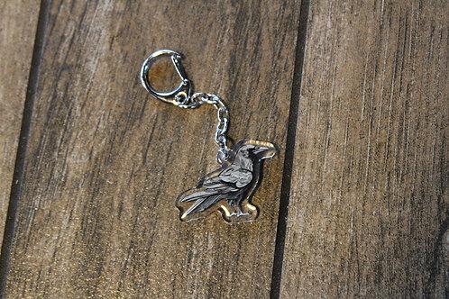 Raven Sparkle Keychain Charm