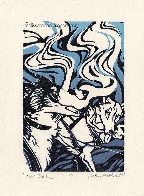 Linoprint - Frozen Breath
