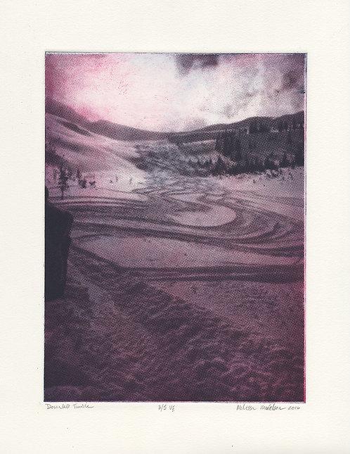 Downhill tumble 3/5 - intaglio