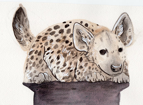 Spotted Hyena bag watercolor