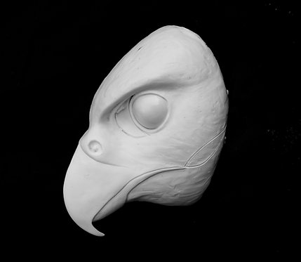 Realistic Falcon Fursuit Mask Resin Blank with Moving Jaw