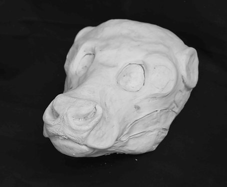 Realistic Bovine Fursuit Mask Resin Blank with Moving Jaw