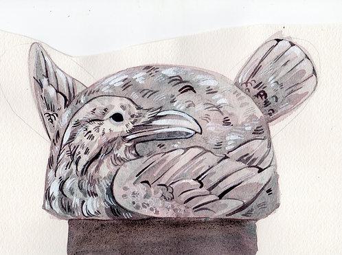 Raven bag watercolor
