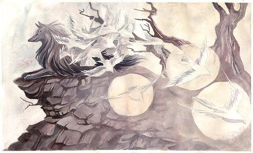 Origins of the Winged Beast print